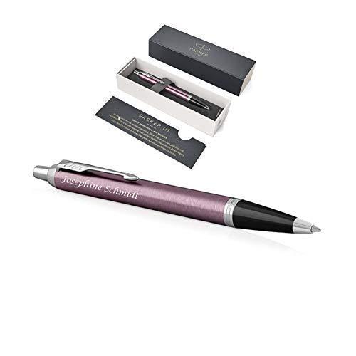Exklusiver PARKER Kugelschreiber Modell IM inkl. Gravur Lasergravur graviert neu (Light Purple)
