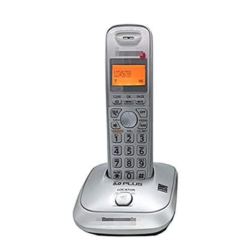 Teléfono inalámbrico DECT de botón Grande con Llamada tripartita e identificador de Llamadas, Almacenamiento de 50 Grupos de números, se Pueden expandir hasta 6 teléfonos (Color: B, Tamaño: 1)