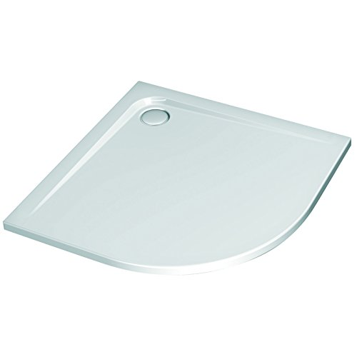 Ideal Standard K240701 Duschwanne, besonders flach, asymmetrischer Riemen, links, 100 x 80 cm, Weiß
