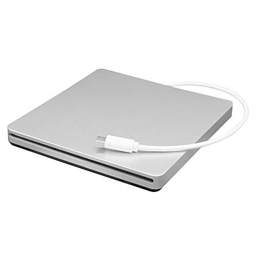Portable Type-C DVD CD RW External Slot-in Drive Burner Writer Mobile Optical Drive for Laptop & Desktop & Notebook(Color:Silver)