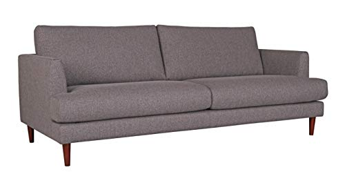 Amazon Brand – Rivet Canton Deep Mid-Century Modern Sofa Couch, 88.6'W, Dark Grey