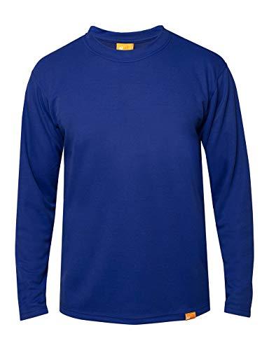 iQ-UV T-Shirt à Manches Longues pour Homme - Protection UV 50+ - Bleu foncé - Taille L (52)