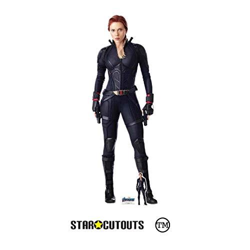 Marvel SC1310 Black Widow Scarlett Johansson Figur Avengers Endgame aus Karton, Lebensgröße, 170 cm hoch