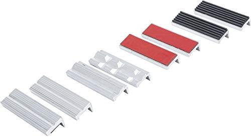 BGS 8442 | Schraubstock-Schutzbacken-Satz | 8-tlg. | Aluminium | 100 mm | mit Magnet | Alu | Schonbacken