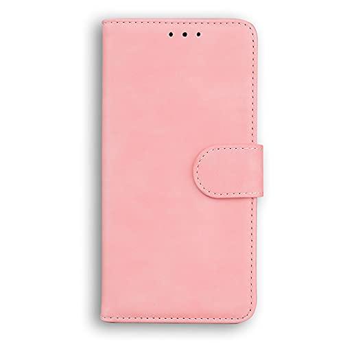 Glqwe Telefonfodral, läderplånbok flip stående bok för iPhone 12 mini Pro MAX 6 7 8 11 S Plus x s xr max (färg: Rosa, material: För iPhone XR)