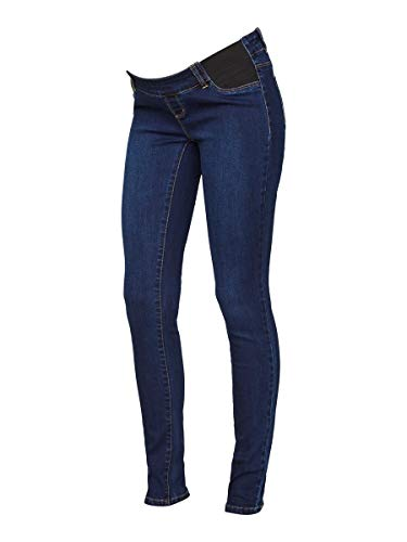 MAMALICIOUS Mama Licious Damen Umstandsjeans Slim Fit 2832Dark Blue Denim