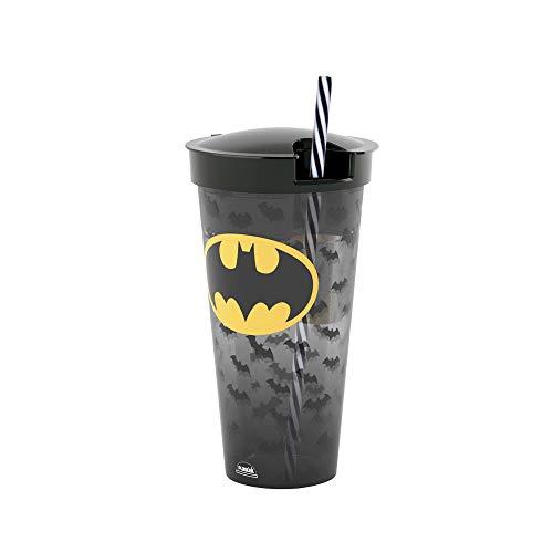 Copo 2 em 1 de 540 ml Batman, Plasútil, 008969-3784, Preto