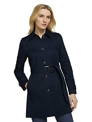 TOM TAILOR Damen 1024462 Basic Trenchcoat, 10668-Sky Captain Blue, XL