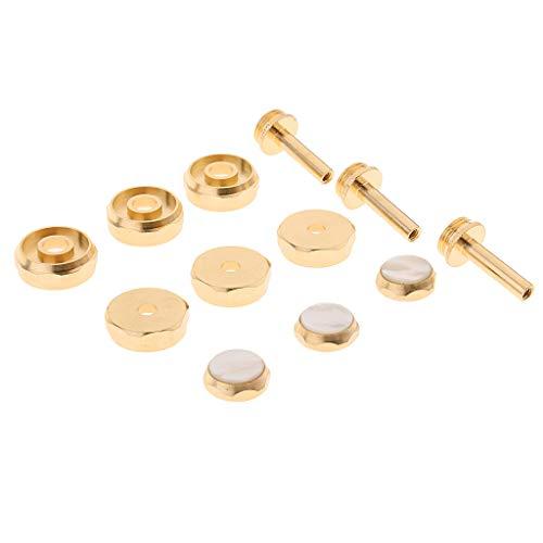 Trompeten-Ersatzteile Messinginstrument Trompetenventil-Fingerknöpfe