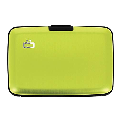 Ögon ST-Green-Lime Stockholm Cartera Tarjetero de Aluminio Anodizado Verde Limón