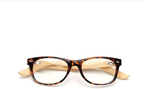 ZAWAGU Gafas con Montura de Arte de Moda cómodas Gafas Gafas con Montura de Lente Retro Gafas de Madera Moda Hombres Mujeres Anteojos Gafas Gafas Marcos Moda Mujer Accesorios Regalo