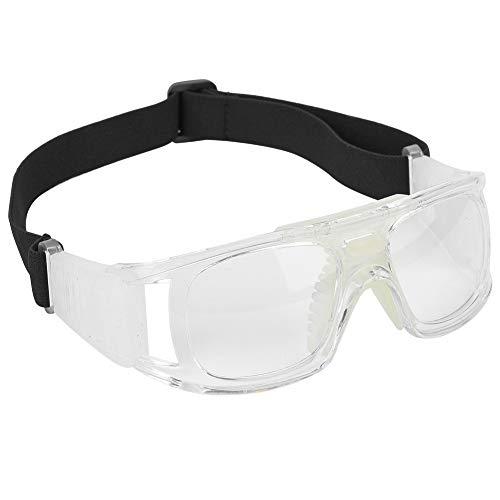 Alomejor Sportarten Basketball Brillen Schutzbrillen mit Verstellbaren Elastischen Tragegurt für Fußball Basketball(Weiß)