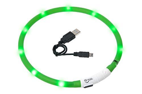 Karlie Visio Light Led Schlauchhalsband 70 cm, universell kürzbar, grün
