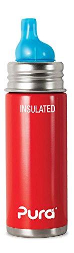 Pura Kiki 897261002948 250ml Isolierte Trinklernflasche, Edelstahl, rot