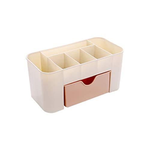 CHOUCHOU Colgante Pendientes Joyería cosmética gaveta de Almacenamiento de Maquillaje plástico Durable Cepillo Box Office Inicio de Control a Distancia Soporte del lápiz Labial