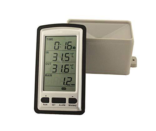 X-Home Profesional Estacion Meteorologica, Sensor Inalámbrico, Termómetro Pluviómetro, Detector De Clima De...