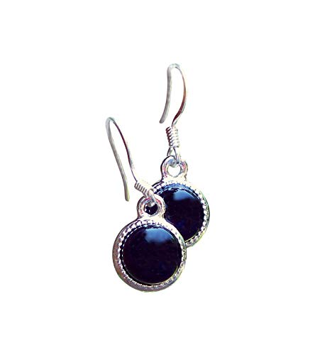 Recycled Antique Black Depression Glass Color Dot Earrings