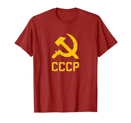 CCCP ハンマー&シックル ソビエトロシア 共産主義 赤 ソ連 Tシャツ