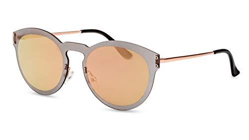 CATWALK Runde Sonnenbrille/Randlose Sonnenbrille im Panto Stil für Damen/Rosa verspiegelt F2509150
