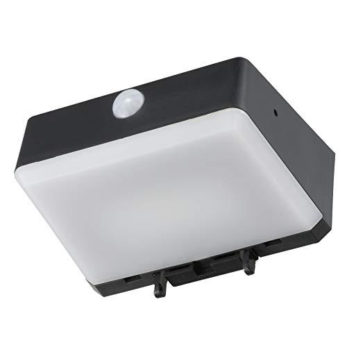 オーム電機 LEDセンサーウォールライト(アラーム機能/白色LED/ソーラー発電式/ブラック) LS-SH05H4-K 普通