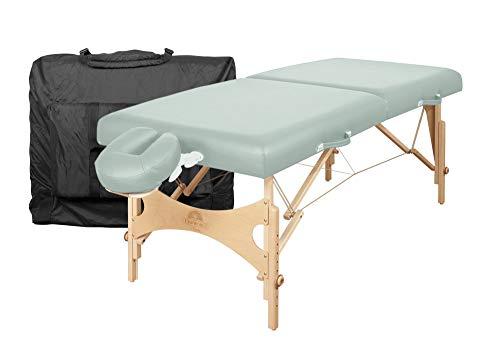 "Oakworks Portable Massage Table NOVA Package, Sage (Light Green), Professional Spa-Level Comfort, W/Face Rest Cradle & Boiance Face Rest, Carry Case, 24""-34"" Height Range, 29"""