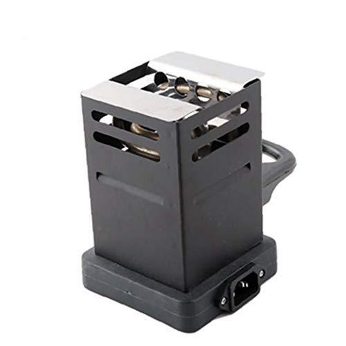 ZYCX123 Calentador eléctrico Estufa Mini Plaza Horno Caliente de la Placa del Quemador de carbón Tubos Accesorios con Enchufe de la UE (Negro)