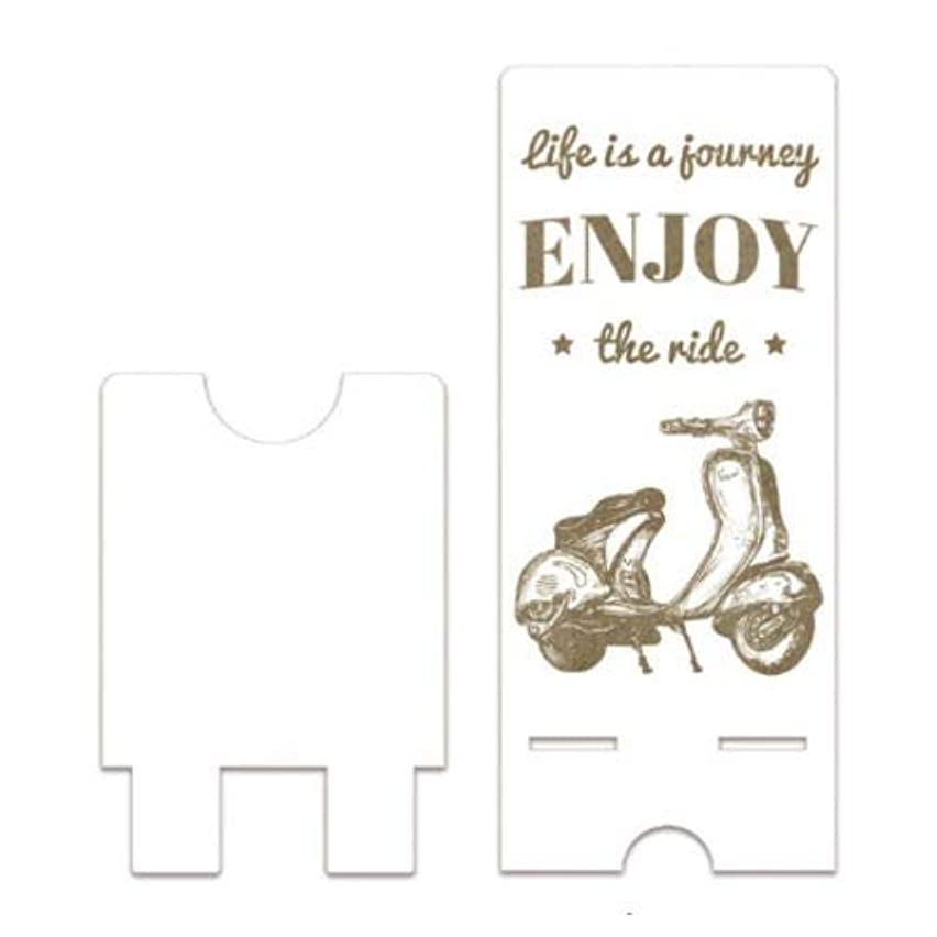 Dayka Trade Wooden Mobile Phone Holder with Life is a Journey Motif, Multi-Colour, Taglia Unica