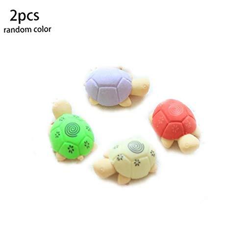 2ST Schildkröte Gummi Karikatur-Radiergummi Schreiben Radiergummi für Schule-Büro-Schreibwaren Bedarf zufällige Farbe