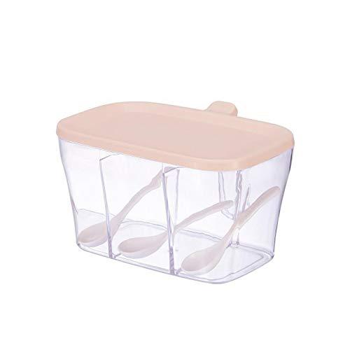 YEQUANHUA Botellas Caja de Almacenamiento de tarros de Especias condimento de Cocina de Especias Tarros Transparente Sal Pimienta Comino en Polvo condimento Box (Color : D)