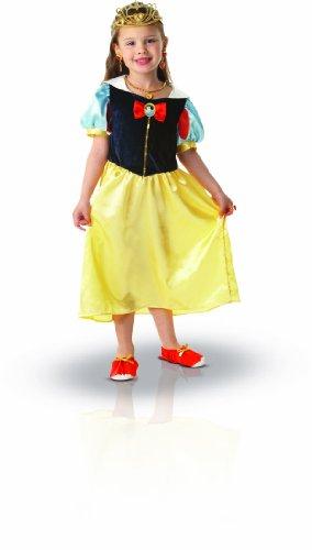Princesas Disney - Disfraz de Blancanieves con accesorios para nia, infantil 5-7 aos (Rubie's 884489-M)