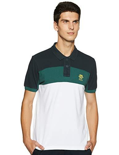 US Polo Association Men's Solid T-Shirt (USTS6205_Multi-Color_L HS)