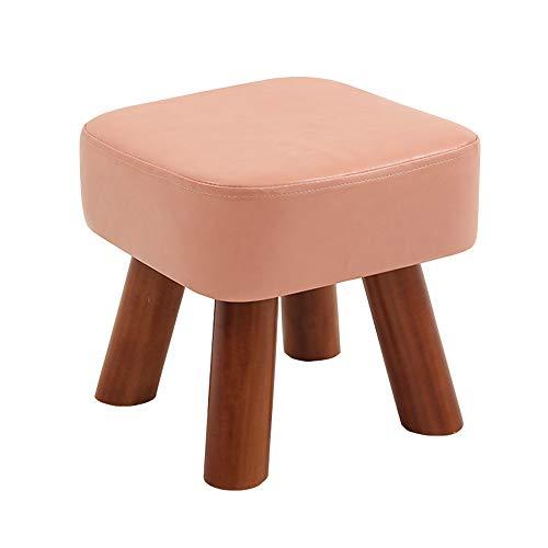 chenyang86 Chaise - maison environnement doux et confortable salon en bois massif tabouret adulte chaise (Couleur : Pink, taille : 28 * 28 * 32cm)