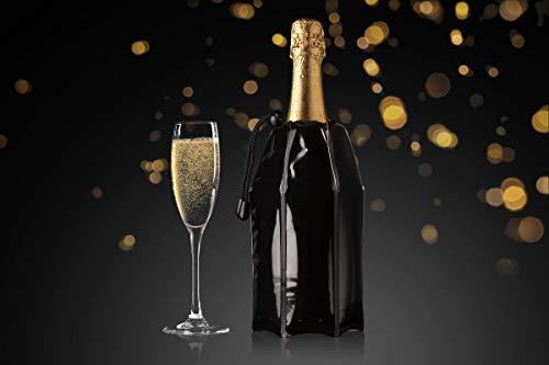 Vacu Vin 38856606 Aktiv Champagnerkühler Motiv schwarz, Kunststoff