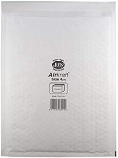 Jiffy - Sobres (ligeros, con burbujas en el interior, para papel A4, 50 unidades, tamaño 4, 240 x 320 mm), color blanco