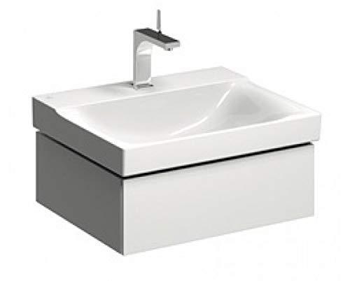 Geberit Xeno 2 Meuble sous-lavabo 500.505. 580x220x462mm, 1 tiroir, Coloris: Laqué Gris Mat - 500.505.00.1