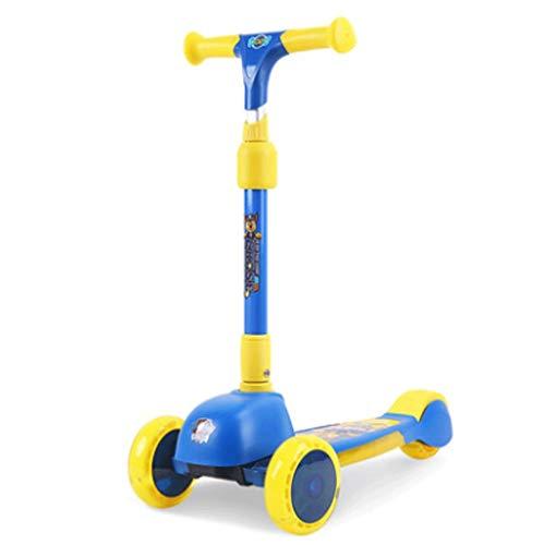 Roller für Kinder Kinderroller mit Einstellbarer Höhe, Kleinkind-Roller mit erweiterten Flash-Rädern, Roller...