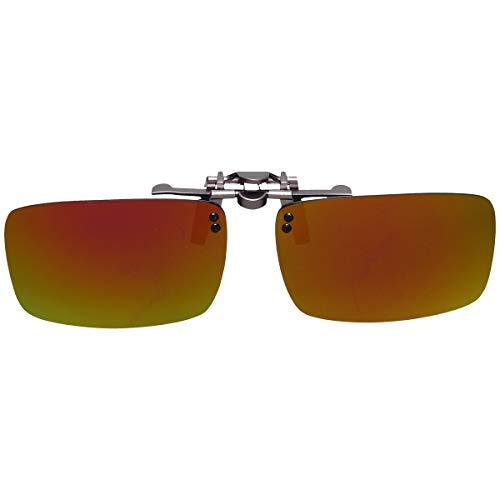GoodsLand 【 8color 】 クリップオン サングラス 偏光 釣り 運転 調光 眼鏡 メガネ クリップ式 メンズ レディース GD-CL-GRASS-MRRD