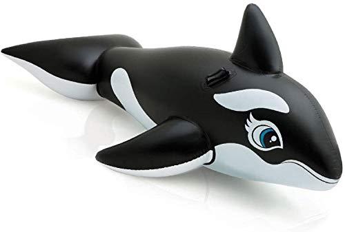 Sea World Orca Nera Gonfiabile Cavalcabile 193x119 cm