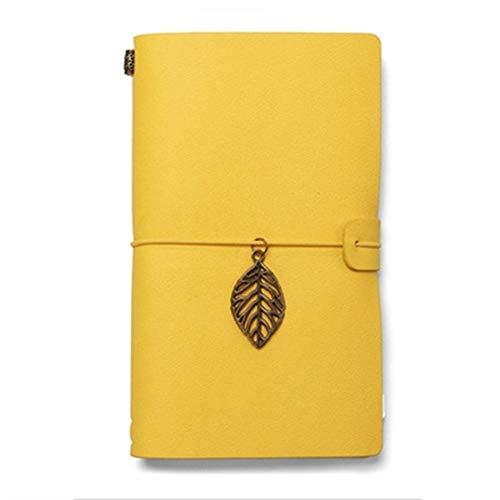 Cuadernos de diario en blanco de papel rayado plan Cuaderno Cuaderno de dibujo Papelería PU Cubierta de cuero Diario Cuaderno Bullet Viajeros Lista de deseos Artículos for el diario Paquete de trabajo