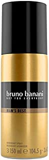 Bruno Banani Man s Best Desodorante Body Spray elegante + maskulin Hace Tentación Super Fácil 1er Pack (1x 150ml)
