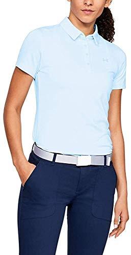 Under Armour Zinger Short Sleeve Polo Chemise Femme, Bleu, M