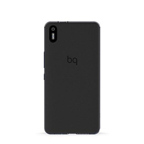 BQ E000635 - Funda para Aquaris X5 (poliuretano flexible, laterales semitransparentes), color negro