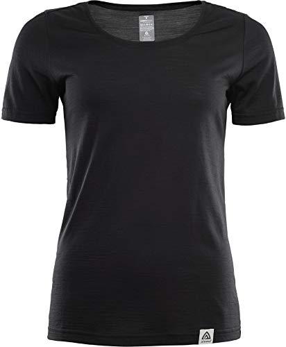 Aclima LightWool T-Shirt Femme, Jet Black Modèle M 2021 T-Shirt Manches Courtes