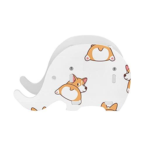 Portalápices Cute Corgi Butt Elephant Pen Holder con soporte para teléfono Organizador de lápices multifuncional Suministros de oficina