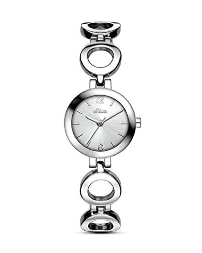 s.Oliver Damen Analog Quarz Armbanduhr SO-3013-MQ