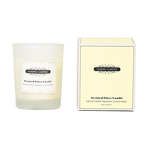JYHYGS Aromatherapy Candle, Glass Candle, Lead-Free Fiber Wick, Bedroom Soothing Sleep, 5.1 * 6.3CM, Sea Salt