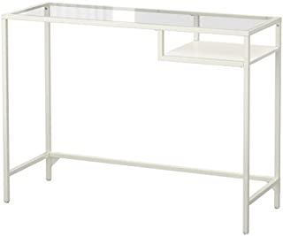 IKEA Laptop Stand Desk (White, Glass)