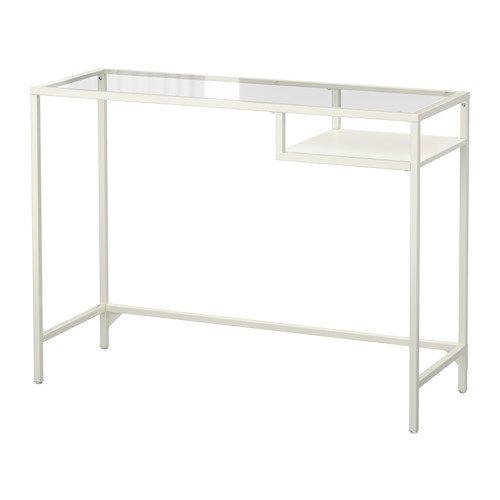 IKEA Laptop-Ständer Schreibtisch Weiß, Glas