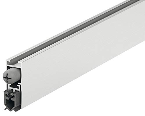 Türbodendichtung automatisch Zimmer-Türdichtung Absenkdichtung DDS 12 Zugluftstopper kürzbar | Länge 930 mm | Universal-Dichtung für für schall-hemmende Türen | 1 Stück - Türdichtung für Türen