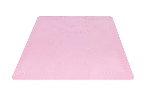 LuBabymats - Alfombra puzzle infantil para bebés de Foam (EVA), suelo extra acolchado para niños, color rosa